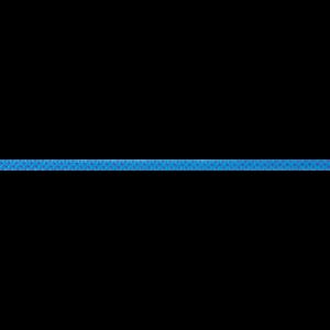 Das Bild zeigt eine Beal 5,5mm Dyneema Reepschnur. Die blaue Schnur ist horizontal in Bildmitte zu sehen.