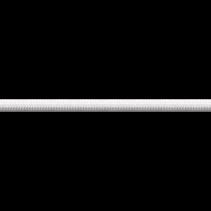 Das Bild zeigt eine weisse Beal 5mm pure Dyneema Reepschnur. Sie liegt horizontal in Bildmitte.