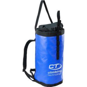 Das Bild zeigt den blauen Azimut Haul Bag Climbing Technology mit ausgefahrener Hauling Schlaufe.