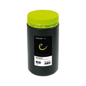 Das Bild zeigt die schwarz-gelbe Dose des Edelrid Chalk Jar.