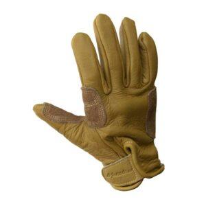 DAs Bild zeigt die Hand Rückseite des Metolius Belay Glove.