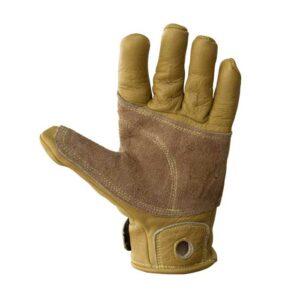 Das Bild zeigt die Hand Innenseite des Metolius Belay Glove.